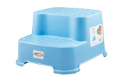 STEP SAFE® 2 Step- Kids Step Stool| Strong and Durable yet Lightweight and Portable| Secure Non Slip Surface and Feet| High Quality Safe Materials| 90kg Capacity| 30cm W x 20cm H