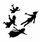 Peter Pan Kids 15cm Black Car Truck Vinyl Decal Art Wall Sticker USA Classic Disney Movies