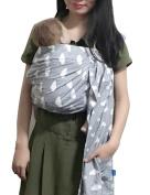 Vlokup Baby Ring Sling Carrier for Newborn Original Adjustable Infant Lightly Padded Wrap Breastfeeding Privacy 100% Cotton Cloud
