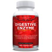 Digestive Enzymes 180 Veggie Capsules, Best Supplement with Probiotics, Natural Vegan Friendly