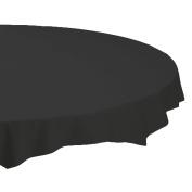 Hoffmaster 112013 Plastic Octy-Round Tablecover, 210cm Diameter, Black