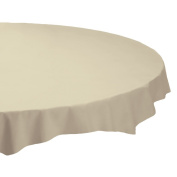 Hoffmaster 112012 Plastic Octy-Round Tablecover, 210cm Diameter, Ivory