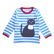 Toby Tiger Organic Cotton Cat Applique T-Shirt, 2-3 Years