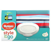 Huggies Style On the Go Wipes Refillable Pouch 40 per pack