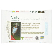 Naty Eco Travel Wipes Unscented 20 per pack