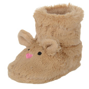 Child Pink Bunny Rabbit / Brown Mouse Bootie Slippers Faux Fur Fleece Lined Kids