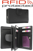 Ladies Quality Leather Purse With RFID Protection For 11 Credit Cards, Notes and Coins In 5 Colours - Gift Boxed