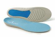 Foot SoothersTM Ulta Comfort IIX Orthotic Massaging Sports Gel Soft Insoles Dual Density Arch Supports Plantar Fasciitis Relief Heel Pain