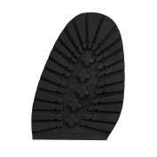 Rubber Lugs Half Soles -black- 1 pair for DIY Shoe Repairs of soles - 4.5 mm thickness. Good traction on wet surfaces. (15 x 11.0 cm