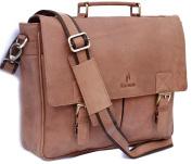 Starhide distressed brown leather bag #535
