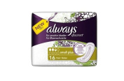 Always Discreet Incontinence Small Plus Pads 16pk Case of 4