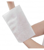 Disposable Non-Woven Wash Mitt Air Laid Polyethylene Film 75 g/m² 230 x 155 mm/Pack of 50