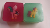 Childrens MINI unicorns/ponies inside soap x2 stock sent will depend on availability