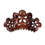 Phenovo Large Flowers Floral Hair Clamp Claw Clip Comb Grip Multi-colour - Brown, taille unique