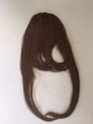 Clip in Front Closure Bangs Fringe COLOUR 4 Medium Brown Straight 100% Remi Human Hair Extensions
