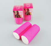Hair Fringe Roller Sleep In Big Hair Style Wet Dry Pack of 2 Beauty Fashion