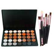 Lover Bar 35 Warm Colour Eyeshadow Palette - Beauty Cosmetics Tools - Makeup Waterproof Nature Glow Matte Eye Shadows Kit - Professional Shimmer Eye Shadow Pallets with Eyes Make Up Brushes Set