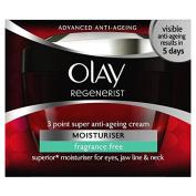 Olay Regenerist 3 Point Super Age-Defying Moisturiser Fragrance Free 50ml