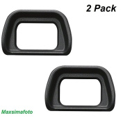 Maxsimafoto - x2 (Twin Pack) Eyecup for Sony NEX7 NEX6 A6000 A6300 as FPA-EP10 ,FDA-EV1S, ES-EP10 Viewfinder - Black