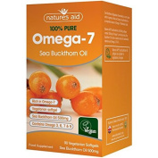 Natures Aid Sea Buckthorn Oil 500mg (Omega-7) 90 per pack