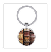 Antique Books In A Library key ring For Book Lovers Gifts For Writers Gifts For Librarians key ring
