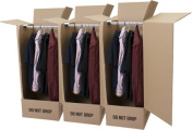 *DEAL* 2 x WARDROBE CARTON - STRONG BOX - NEW - GARMENT PACKING BOXES - GARMENT REMOVAL BOXES - GARMENT CLOTHING STORAGE BOXES *** NEXT DAY UK DELIVERY *** To View Our Exciting Amazon Catalogue search _ Wellpack Europe