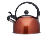 KitchenCraft Le'Xpress Induction-Safe Whistling Stove-Top Kettle, 1.4 Litres - Stainless Steel