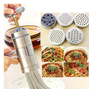Stainless Steel Pasta Noodle Maker Vegetable Fruit Juicer Press Rigatoni Gramflour Noodles Rice Noodles Machine Inspired Kitchen Tool