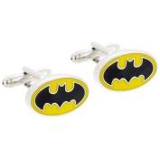CMJ Batman Black and Yellow Cuff Links . Mens Cufflinks in gift bag UK Seller