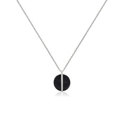 Ceranity Necklace with Pendant 925 Sterling Silver / Zirconia - 45 CM - 1-72 / N - 0026