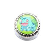Official Pokemon Bulbasaur Bead Slider Bracelet Charm Only - Pokemon Go
