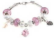 Birthstone Birthday Charm Bracelet with Gift Box Women's Jewellery
