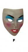Transparent Mask Female - Not Smiling