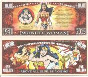 Novelty Dollar Wonder Woman American Comic Book Super Hero Million Dollar Bills x 4 Warrior