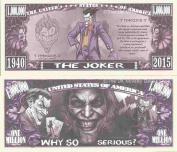 Novelty Dollar The Joker Comic Book Super Villain Million Dollar Bills x 4 Batman Gotham