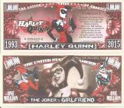 Novelty Dollar Harley Quinn The Jokers Girlfriend Comic Book Million Dollar Bills x 4 Batman