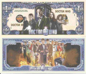 Novelty Dollar Doctor Who Trust Me I Am The Doctor Million Dollar Bills x 4 Time Lord Tardis