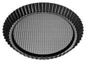 Zenker Pie Pan, Stainless Steel, Black/Metallic, 30 cm Diameter