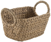 Compactor Home Storage Small Water Hyacinth Caracas Basket, Brown