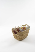 Compactor Small Caracas Woven Storage Basket, Natural Brown