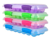 "1 x Sistema ""KLIP IT"" Accents Ice Cube Tray with Lid, Plastic, Assorted Colours"