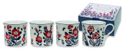 Heath McCabe Princess Nordic Beaker Fine Bone China Mugs, Pack of 4