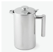 Juice or Water Jug isolated thermo - Stainless steel teapot with lid