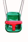 HIKS® Baby / Toddler / Childs Garden Swing Seat with T bar in Green & Red Climbing Frame Accessory