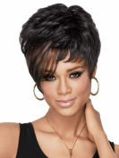 UPTOP Hair ® Fashion Short Wig Curly Mix Black Synthetic Hair Party Wigs For Women Girls