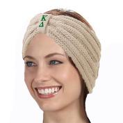 KYS Kappa Delta Sorority Cable Knit Bow Headband