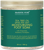 Majestic Pure Tea Tree Oil Foot Soak with Epsom Salt, Soothes Tired Aching Feet, Anti-fungal - 590ml