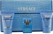 Versace Man Eau Fraiche By Gianni Versace For Men  Eau De Toillette   .500ml Mini & After Shave Balm .240ml Mini & Shower Gel .240ml Mini