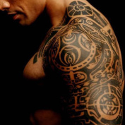DT Fashion Body Makeup Left Shoulder Removable Waterproof Temporary Tattoo Stickers For Men