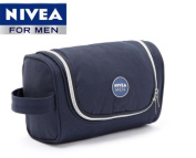 NIVEA Mens Hanging Travel Toiletry Bag Shaving Case Cosmetic Bag